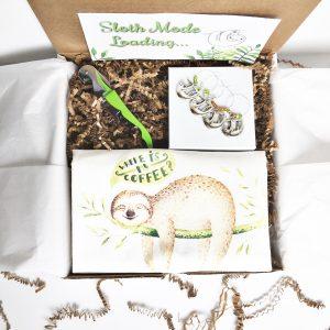 sloth housewarming gift box