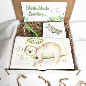 sloth care package for her