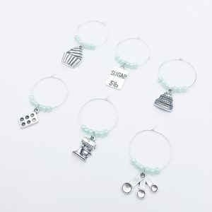 baking wine charms set of 6