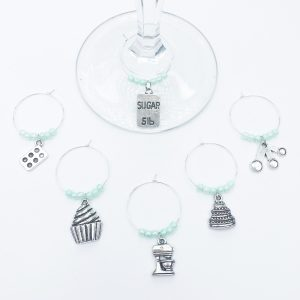 home bar accessory wine charms for bakers