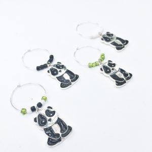 original panda wine charms