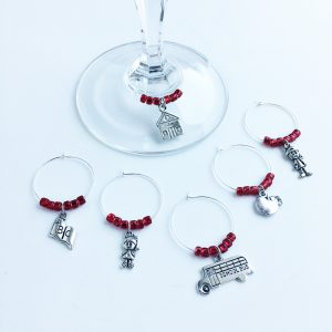 say thank you with set of 6 teacher wine charms
