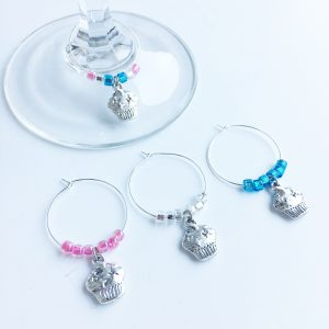 wine charms for cupcake lovers