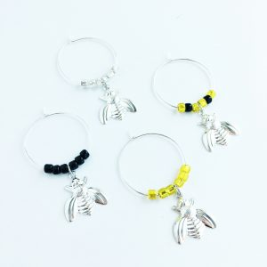 bumble be wine charms set of 4