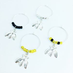 bumble bee wine tags set of 4