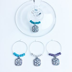 set of 4 wine charms