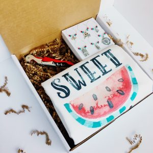 care package with summer wine gifts