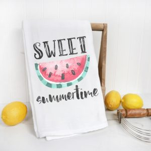 watermelon flour sack towel