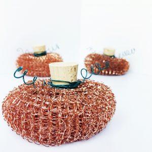 small copper pumpkins