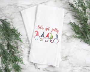 Christmas Gnomes Tea Towel