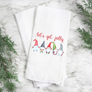 Christmas Gnomes Tea Towel