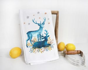 flour sack tea towels for christmas