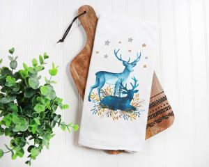 flour sack kitchen towels for winter