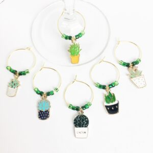Plant Lover Wine Charms