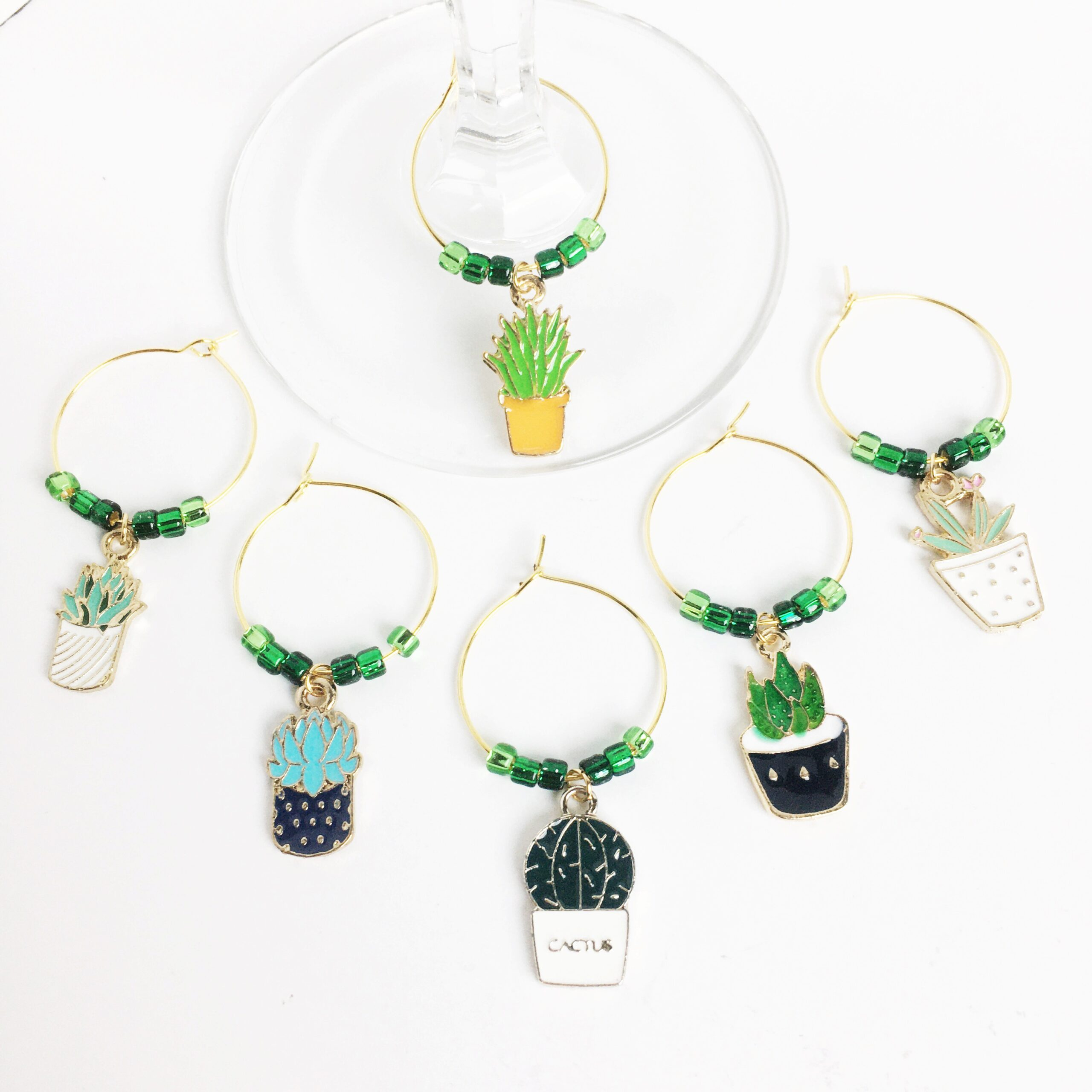 WINE225a Plant Lover Wine Charms
