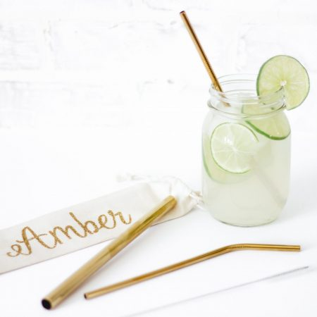 reusable gold straws metal