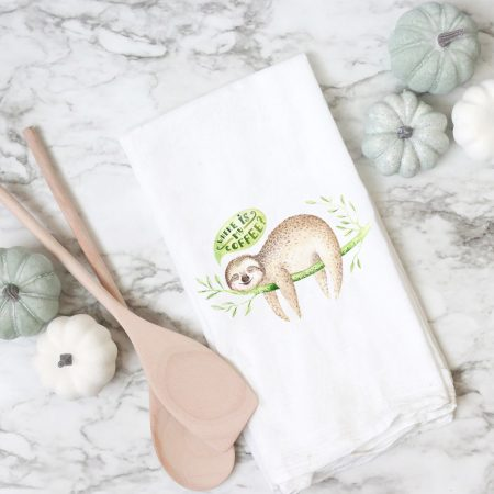 Sloth Flour Sack Towel