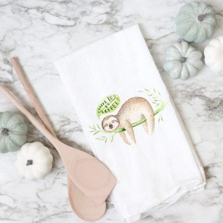 Sloth Flour Sack Towel